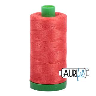 Aurifil 40 Cotton Thread - 2277 (Dark Orangey Coral)